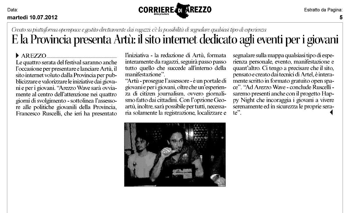 Rassegna Stampa Del 10 Luglio 2012